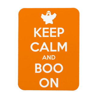 Keep Calm and Boo On Orange Rectangle Magnet Rectangular Photo Magnet
