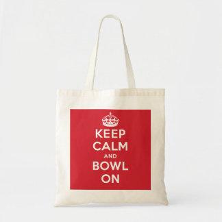 """Keep Calm and Bowl On"" Budget Tote Bag"