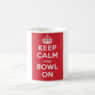 """Keep Calm and Bowl On"" Mug (Red field)"