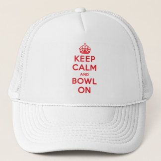 """""""Keep Calm and Bowl On"""" Trucker Hat"""