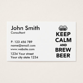 Keep calm and brew beer business card