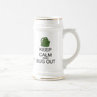 Keep Calm And Bug Out Beer Stein