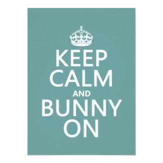 Keep Calm and Bunny On (customisable) 14 Cm X 19 Cm Invitation Card