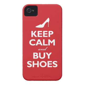 Keep Calm and Buy Shoes (classic red) iPhone 4 Covers