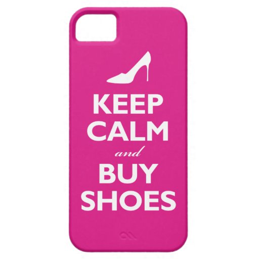 Keep Calm and Buy Shoes (hot pink) iPhone 5 Cover