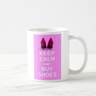 Keep Calm and Buy Shoes Coffee Mugs