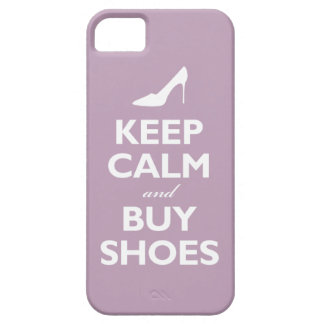 Keep Calm and Buy Shoes (pale violet) Barely There iPhone 5 Case