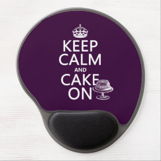 Keep Calm and Cake On Gel Mouse Pad