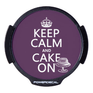Keep Calm and Cake On LED Car Decal