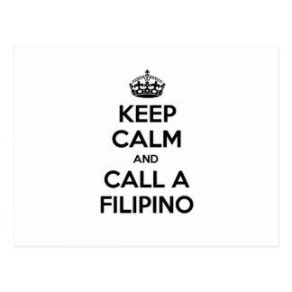 Keep Calm and Call a Filipino Postcard
