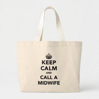 Keep Calm and Call A Midwife Jumbo Tote Bag