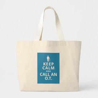 Keep Calm and Call an O.T.-Occupational Therapist Jumbo Tote Bag