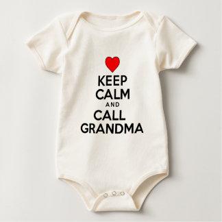 Keep Calm And Call Grandma Baby Bodysuit
