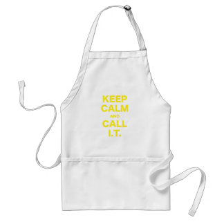 Keep Calm and Call Information Technology Apron