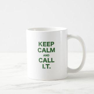 Keep Calm and Call Information Technology Mug