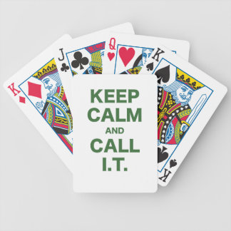 Keep Calm and Call Information Technology Bicycle Poker Deck