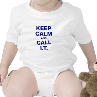 Keep Calm and Call Information Technology Bodysuits