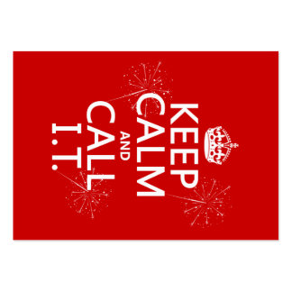 Keep Calm and Call IT (any color) Pack Of Chubby Business Cards