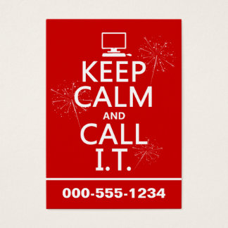 Keep Calm and Call IT (any colour) Business Card