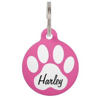 Keep Calm and Call Mum Paw Print Custom Dogs Name Pet ID Tag