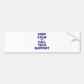 Keep Calm and Call Tech Support Car Bumper Sticker