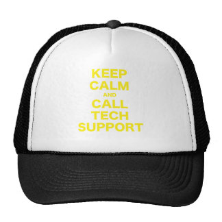 Keep Calm and Call Tech Support Trucker Hats