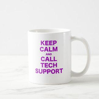 Keep Calm and Call Tech Support Coffee Mug