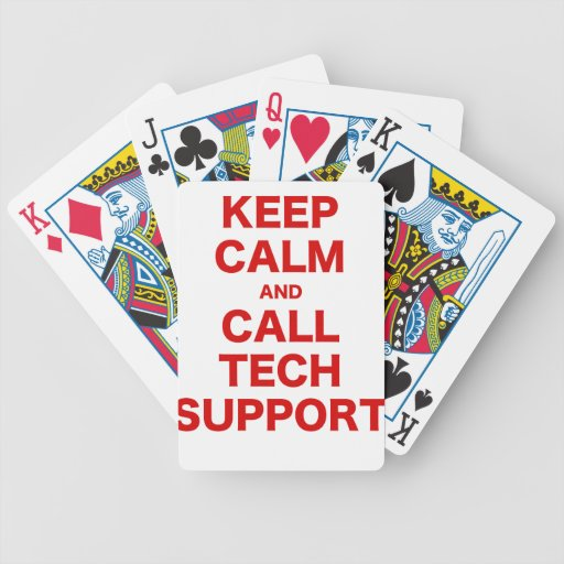 Keep Calm and Call Tech Support Bicycle Card Decks