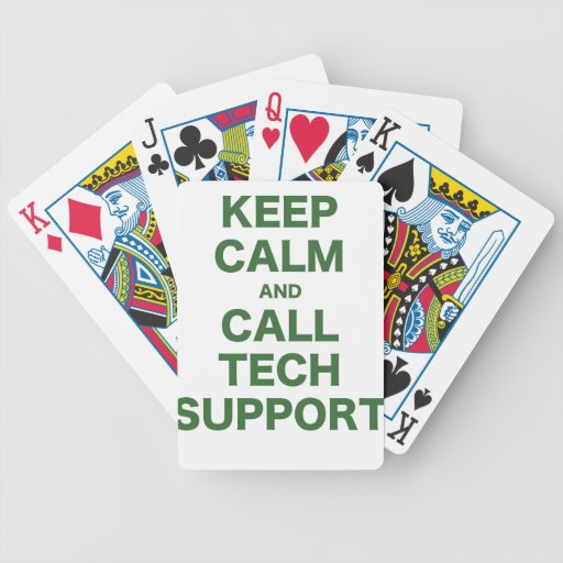 Keep Calm and Call Tech Support Card Decks