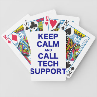 Keep Calm and Call Tech Support Bicycle Playing Cards