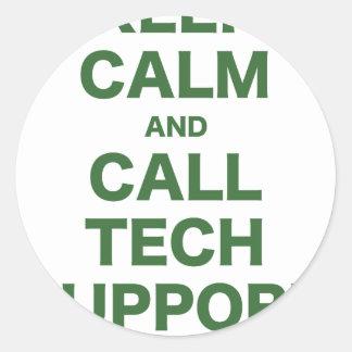 Keep Calm and Call Tech Support Sticker