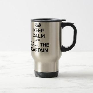 Keep Calm and Call The Captain Travel Mug