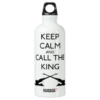 Keep Calm and Call The King (of battle) Water Bottle
