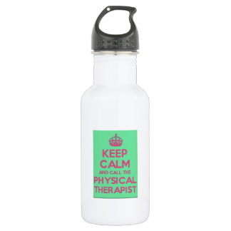 keep Calm and Call the Physical Therapist Water 532 Ml Water Bottle