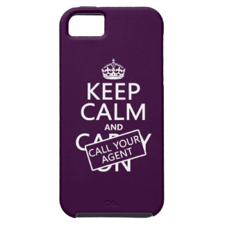 Keep Calm and Call Your Agent any color iPhone 5 Case