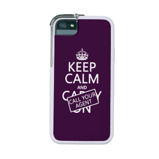 Keep Calm and Call Your Agent (any color) Cover For iPhone 5