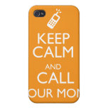 KEEP CALM AND CALL YOUR MOM CASES FOR iPhone 4