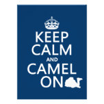 Keep Calm and Camel On (all colours) Personalised Announcement