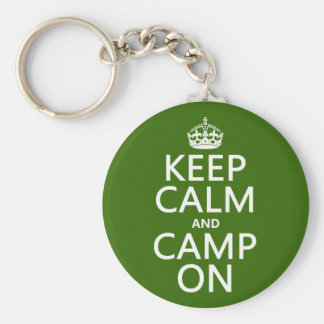 Keep Calm and Camp On Key Ring
