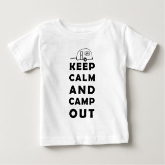 Keep calm and camp out baby T-Shirt