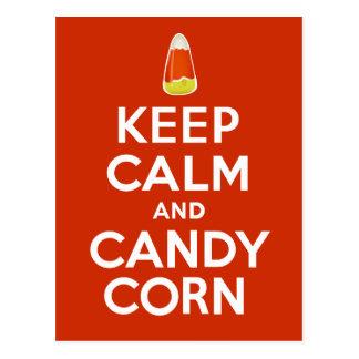 Keep Calm and Candy Corn Postcard
