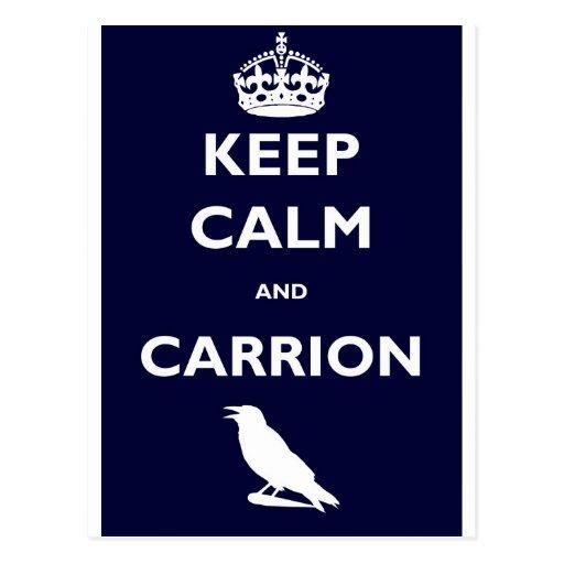 KEEP-CALM-AND-CARRION POSTCARDS