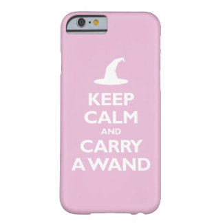 Keep Calm and Carry A Wand (light pink) Barely There iPhone 6 Case
