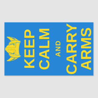 Keep Calm and Carry Arms Swedish Viking Gear Rectangular Sticker