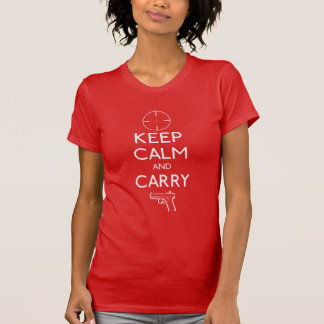 Keep Calm And Carry Concealed Weapons T-Shirt