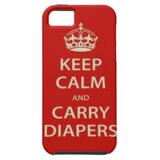Keep Calm and Carry Diapers iPhone 5 Covers