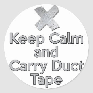 Keep Calm and Carry Duct Tape Stickers