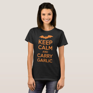 Keep Calm And Carry Garlic Halloween T-Shirt