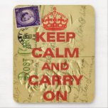 Keep calm and carry mouse pad
