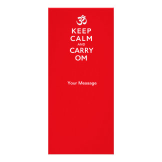 Keep Calm and Carry Om Motivational Rack Card